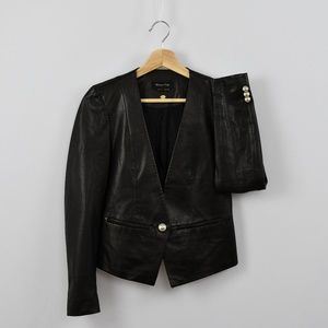 Just In! Massimo Dutti Black Soft Leather Jacket 2